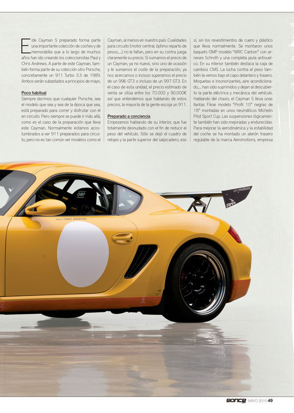 Cayman S Track Car PDM 2014-2015